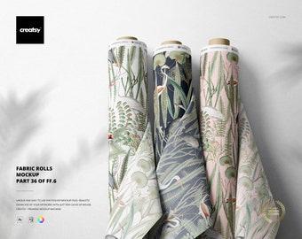 Fabrics Rolls Mockup (part 36 of Fabric Factory v.6)