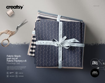 Fabric Stack Mockup (part 04 of Fabric Factory v.6)