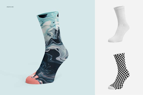 Socks Mockup Set, Socks Template, Sublimation, Socks Blank, Socks On Foot,  Ghosted, Ghost Model, Biker Socks, Personalized Socks Custom Sock