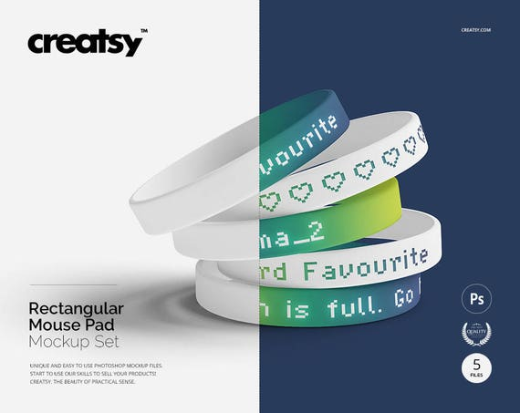 Silicone Wristband Mockup Set Custom Wristband Wristband