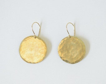 Earring Brass - Disc Earring Large - ENARMOURED