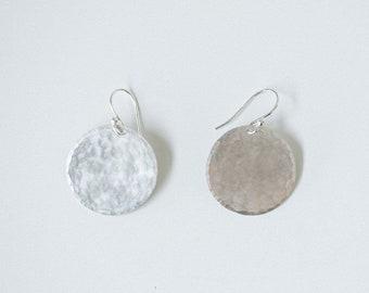 Earring Silver - Disc Earring  Large - ENARMOURED