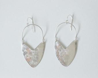 Earring Silver - Tulip Shield Mini - ENARMOURED