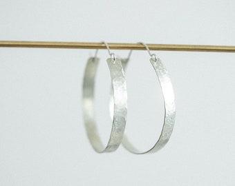 Hoop Earring Silver - Esther Hoop - ENARMOURED