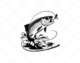 Download Brown Trout Svg Etsy
