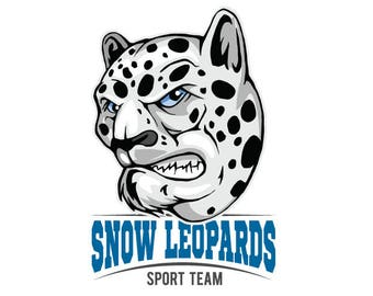 snow leopard clipart etsy rh etsy com snow leopard clipart black and white