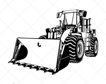 Front Loader SVG Tractor SVG Truck SVG Construction Svg