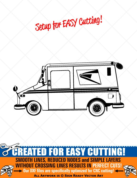 US Postal Delivery Mail Truck Clipart-Vector Clip Art | EtsyUsps Delivery Truck Clipart