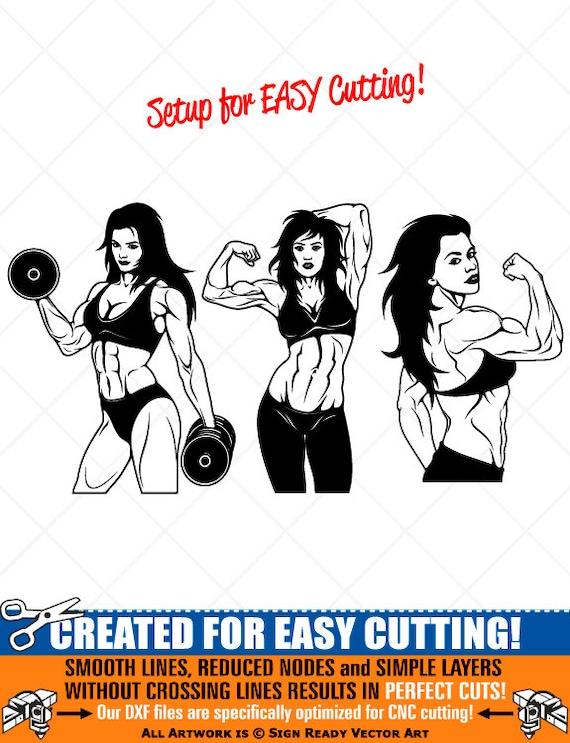 svg,dxf,png ai MUSCULAR Bodybuilder Clipart-Vector Clip Art Graphics-Digital Download Image-Cut Ready Files-CNC-Logo-Vinyl Sign Design-eps