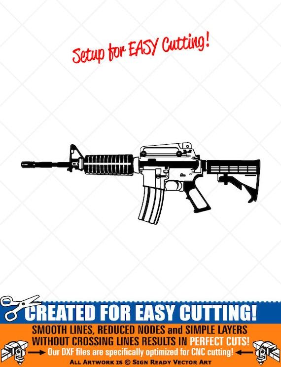 detaillierte m4 karabiner gewehr-gun clipart-vector clipart | etsy  etsy