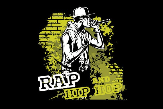 Rap Hip Hop Music Graffiti Clipart Vector Clip Art Etsy