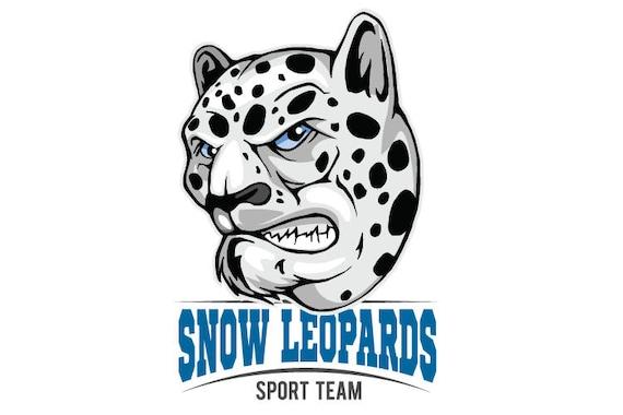snow leopards mascot sports team clipart vector clip art graphics rh etsystudio com baby snow leopard clipart snow leopard face clipart