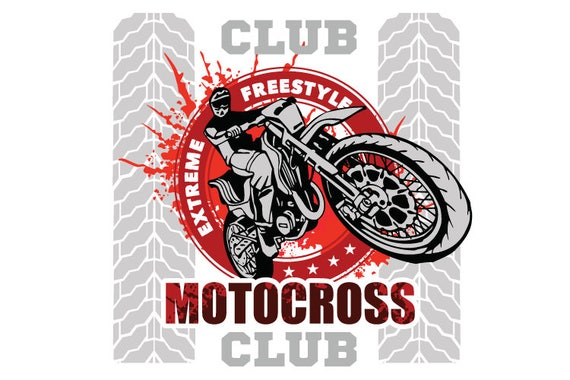 motocross motorcycle dirt bike clipart vector clip art etsy