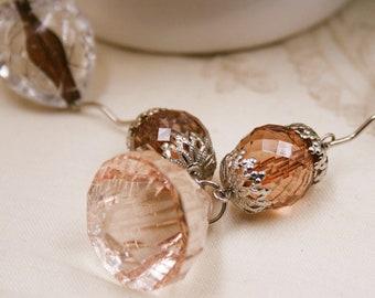 VINTAGE beads necklace /Stones necklace / Summer necklace / Colorful necklace / Resin stones necklace / Long necklace / BOHO necklace