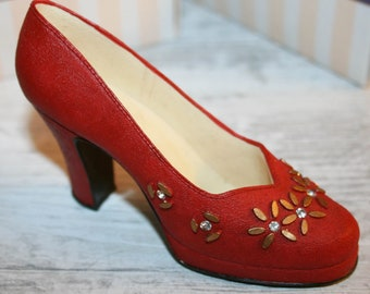 b1a9344b5aa7b Red evening heels | Etsy