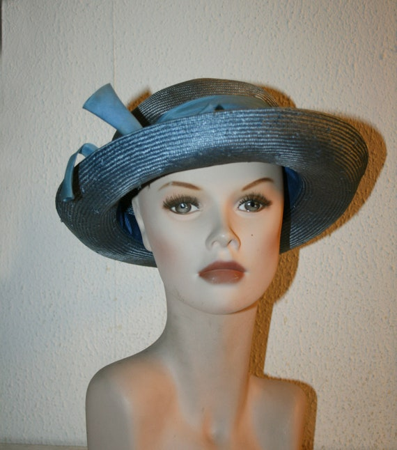Vintage Italian Straw Hat , Women's Summer Hat/ C… - image 2