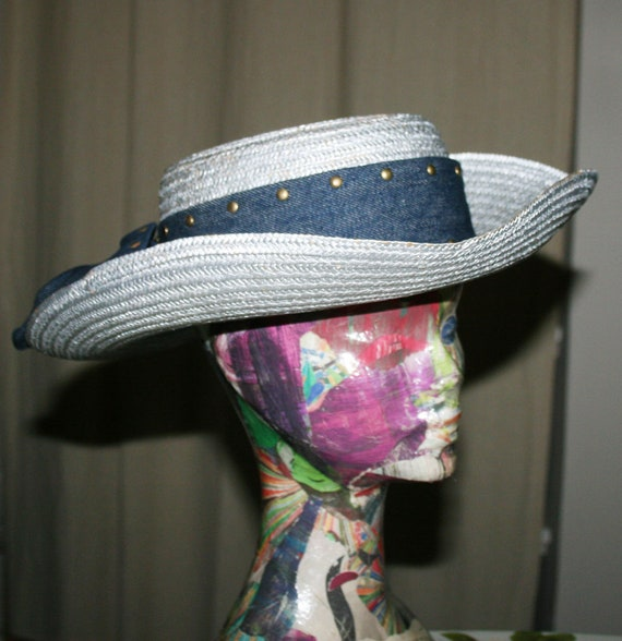 Vintage Cow Boy Italian Straw Women's Summer Hat/… - image 6