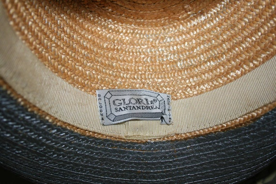 Vintage Cow Boy Italian Straw Women's Summer Hat/… - image 9