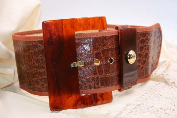 BELT LEATHER WOMAN/Leather vintage/ brown burnt le