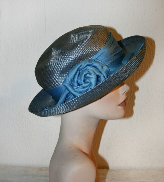 Vintage Italian Straw Hat , Women's Summer Hat/ Co