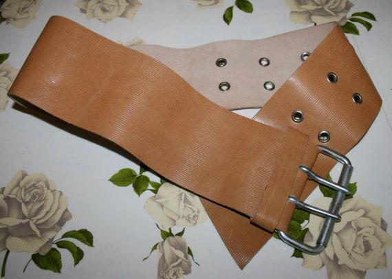 BELT LEATHER /Leather vintage 80s/ brown leather/… - image 2