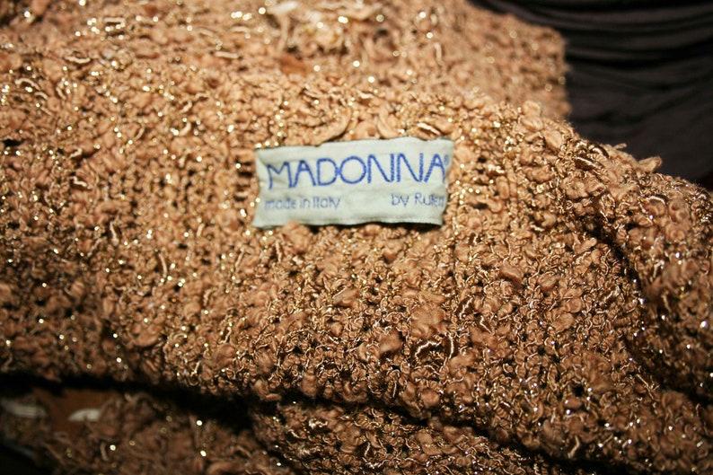 Vintage BOHO Style SweaterJersey tornFashion t-shirtBrand MADONNARare sweaterCotton sweater Boho Chic GiftHippie Fashion Statement