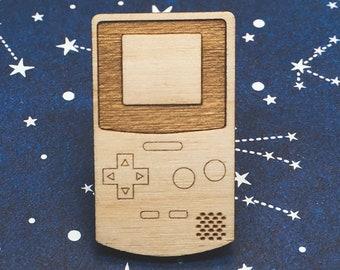 Gameboy Wooden Pin (Retro Nintendo Brooch)