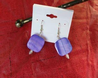 Dyed shell earrings