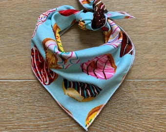 Rainbow Sprinkle Donuts Tie On Dog Bandana