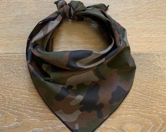 Camouflage Bandana Bandanna Headwear Hair Band Scarf Neck Wrist Wrap Grey/&Black