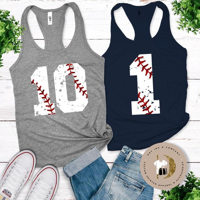 Personalized Baseball Tee Baseball Shirt Personalized Softball FRONT DESIGN ONLY Personalized Vintage Baseball Number