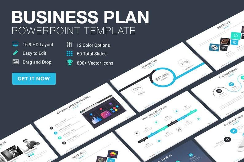 00ffe701b21 Business Plan Powerpoint-sjabloon