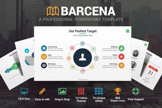 Barcena Powerpoint-Vorlage   Etsy