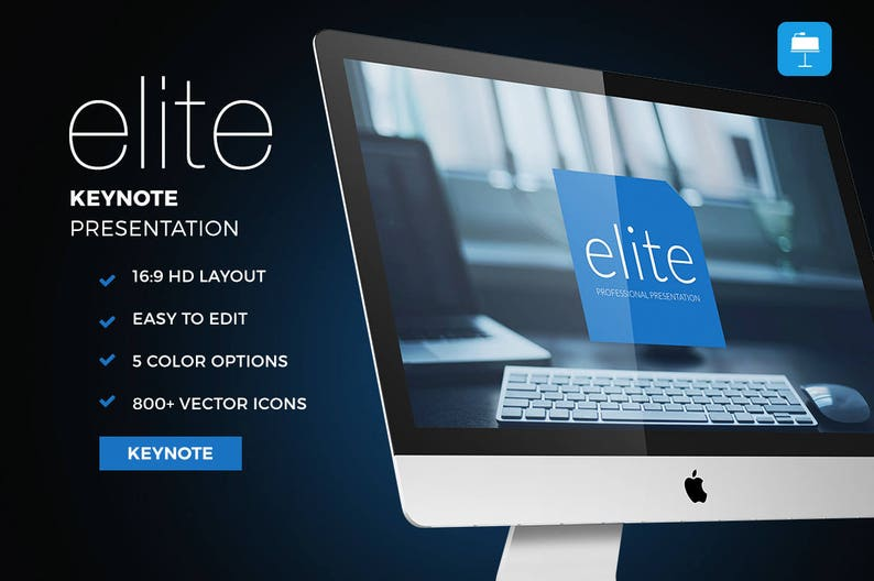 Elite Professional Presentation Template for Apple Keynote