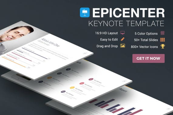 Epicenter Professional Presentation Template for Apple Keynote