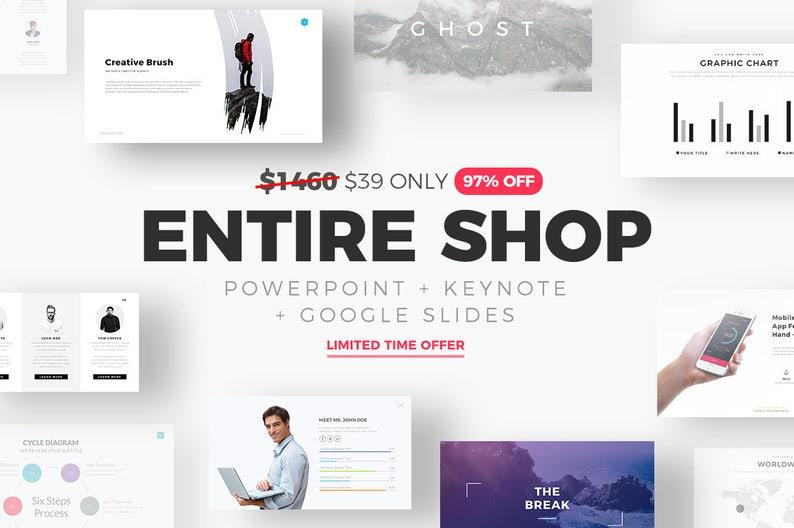 Entire Shop Powerpoint Templates Keynote Templates Google Etsy