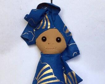African Doll Keychain