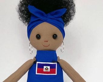 Flag Doll (Haiti) Black Doll