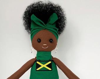 Flag Doll (Jamaica) Black Doll