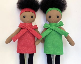 Black Doll (Red or Green dress)