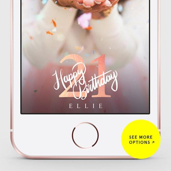 Snapchat Geofilter Birthday Birthday Filter Snapchat Birthday Geofilter Gold Balloons bir28 LIMITED TIME 21st Birthday Gift for Her