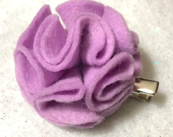 Girly Lilac Flower Hair Clip