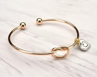 Bridesmaid Bracelet, Initial Bracelet Gift, Bridesmaid Gift, Bridesmaid Bracelet, Tie the Knot Bracelet, Bridesmaid Personalized Bracelet,