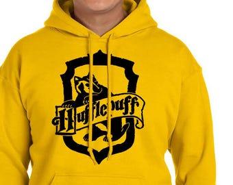 HUFFLEP CREST Hoodie - Hufflep Hoodie - HP Clothes - Men's Hoodie - Women's Sweatshirt