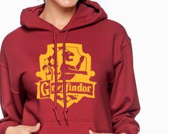 GRYFFIN CREST Hoodie -  Gryffin Hoodie - HP Clothes - Men's Hoodie - Women's Sweatshirt