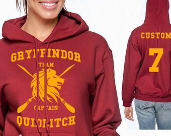 Gryffin Quidditch Hoodie - CUSTOMIZED Gryffin Hoodie - HP Clothes - Men's Hoodie - Women's Sweatshirt - G185
