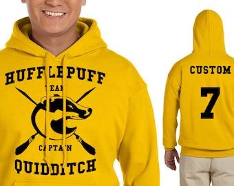 HUFFLEP Quidditch Hoodie - CUSTOMIZED Hufflep Hoodie - HP Clothes - Men's Hoodie - Women's Sweatshirt