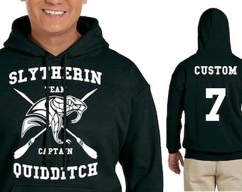 SLYTH Quidditch Hoodie - CUSTOMIZED Slyth Hoodie - HP Clothes - Men's Hoodie - Women's Sweatshirt