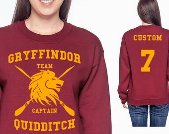 Gryff Quidd Sweatshirt - CUSTOMIZED Gryff Crewneck - HP Clothes - Men's - Women's