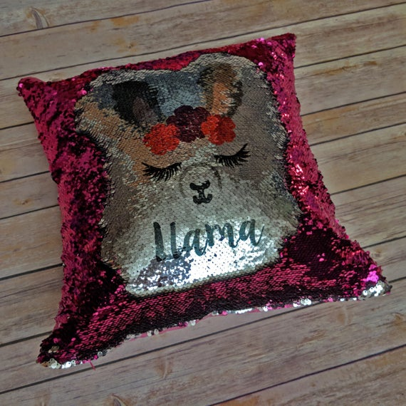 Custom Name Pillow Sequin Pillow